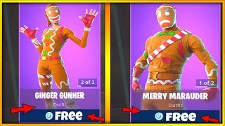 *FREE* Merry Marauder & Ginger Gunner BACK ON FORTNITE (Fortnite Free Skins Live)