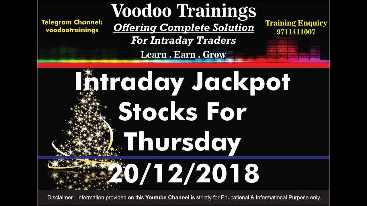IntraDay JackPot's for Thursday | Free Intraday Tips | Intraday Trading  Strategies For Beginners