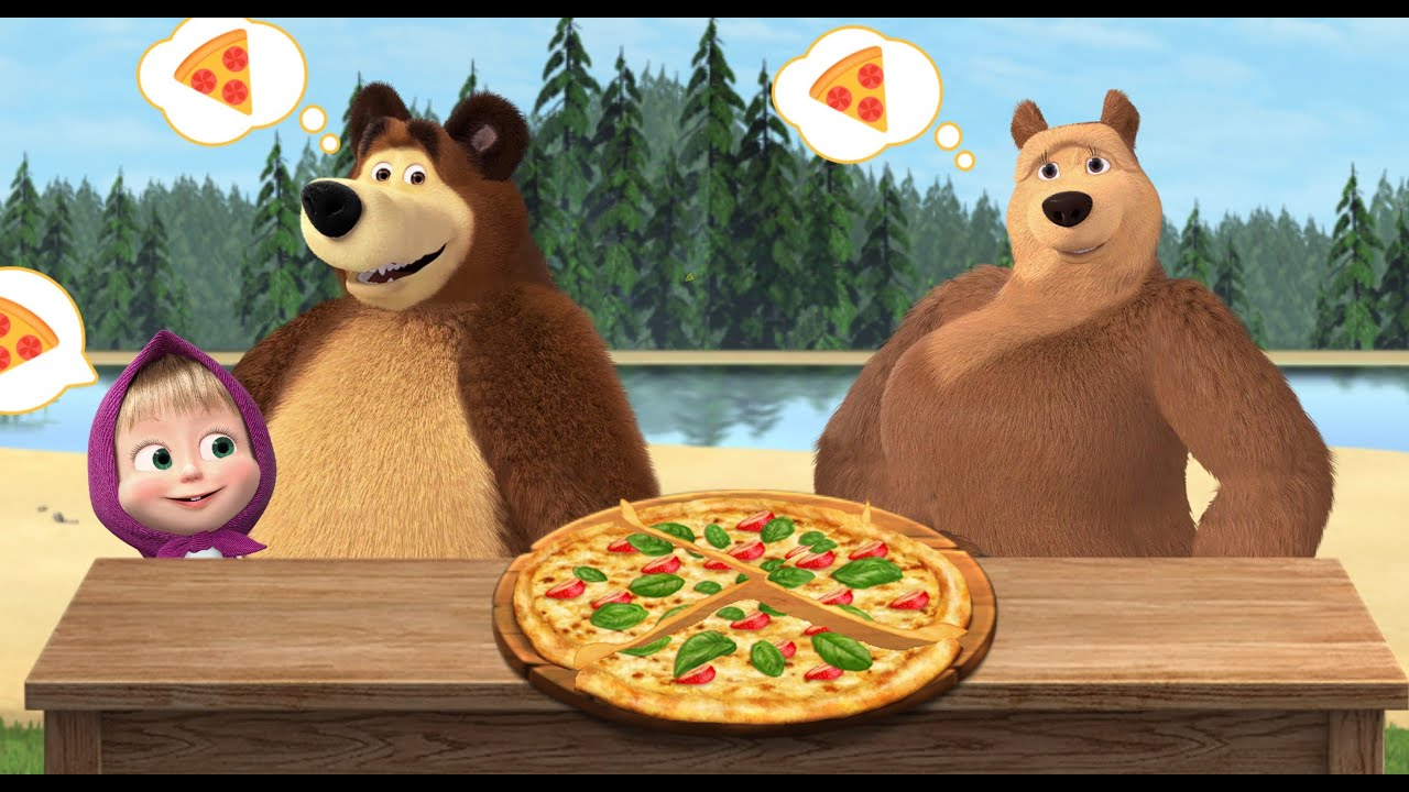 Masha and Bear  are cooking Best pizza  for The She Bear