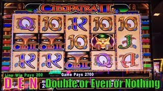 ★Slot Series D☆E☆N (18)★Double or Even or Nothing★China Gold/Cleopatra 2/Geisha  Slot machine (^_-)