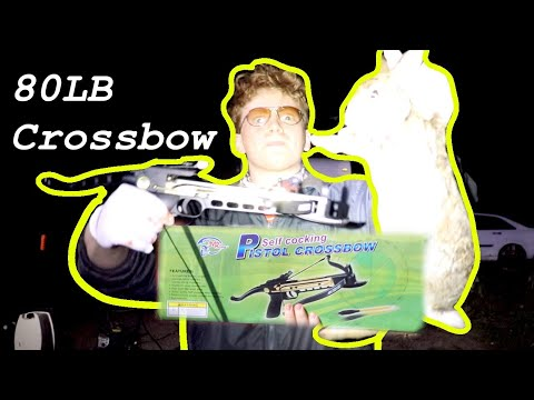 Mini Pistol Crossbow Rabbit Hunting – Catch and Cook