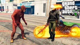 - GTA 5 Моды Призрачный Гонщик против Флэша Flash vs Ghost Rider