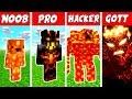 Minecraft NOOB vs  PRO vs  HACKER vs  GOTT  LAVA MONSTER in Minecraft