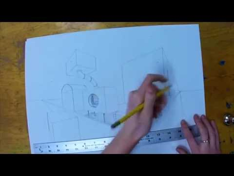 How to Draw 2-Point Perspective: City