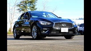 2018 INFINITI Q50 3.0t LUXE With Navigation & AWD