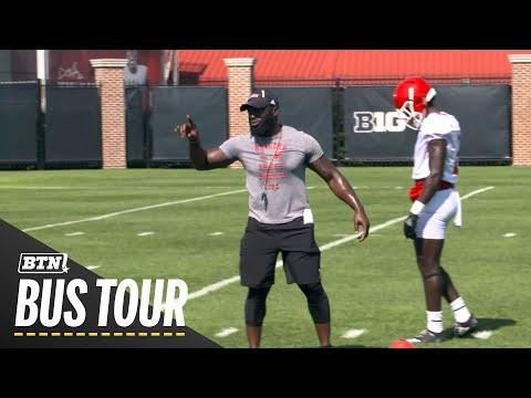 Mic'd Up: Rutgers CB Coach Jay Valai | 2019 BTN Bus Tour | B 1G Football