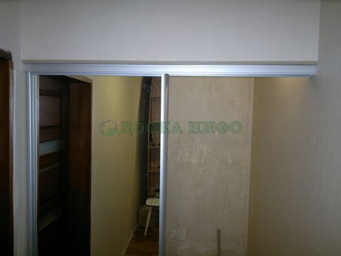 маленькая гардеробная комната фото двери для нее