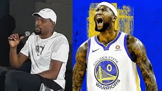 """Kevin Durant On DeMarcus Cousins Joining The Warriors 'I Guess We Ruined The NBA"""""""