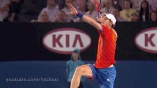 Andy Murray - Jump Smash (Overhead) Slow Motion