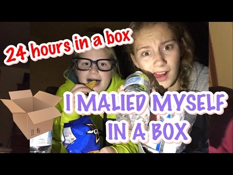 (Read description) WE MAILED OURSELF IN A BOX skit  // 24 HOURS IN A BOX