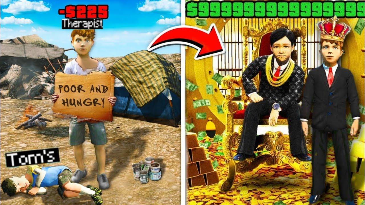 GTA 5 RP : POOR KID vs MEGA RICH KID !! MALAYALAM