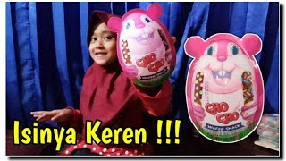 WOW 😱 Surprise Egg Jumbo Cho Cho Wafer Snack Berhadiah Mainan Anak Gantungan Kunci Lucu, Unik