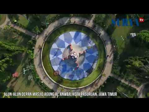 DRONE - Alun-alun dan Masjid Kota Pasuruan
