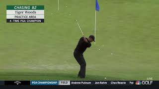 Tiger Woods - Chipping / Pitching Practice (2019 PGA)