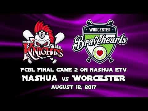 2017 FCBL Finals Game 2 - Worcester at Nashua. 8/12/17