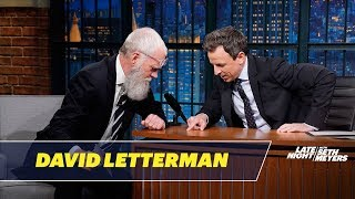 David Letterman Gives Seth a Tick