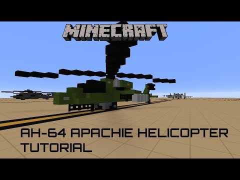 Minecraft AH-64 apachie tutorial