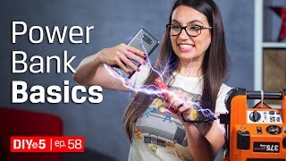 How to Understand Poẁer Bank Ratings and Other Power Bank Basics 🔋 DIY in 5 Ep 58