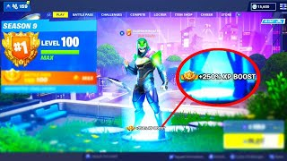 The FASTEST Method to LEVEL 100 in Fortnite.. (SEASON 9)