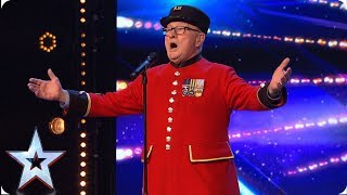 War veteran Colin's touching tribute to late wife | Auditions | BGT 2019