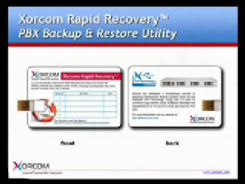Asterisk Based PBX Disaster Recovery Tools by Xorcom