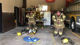 Firefighter gear race