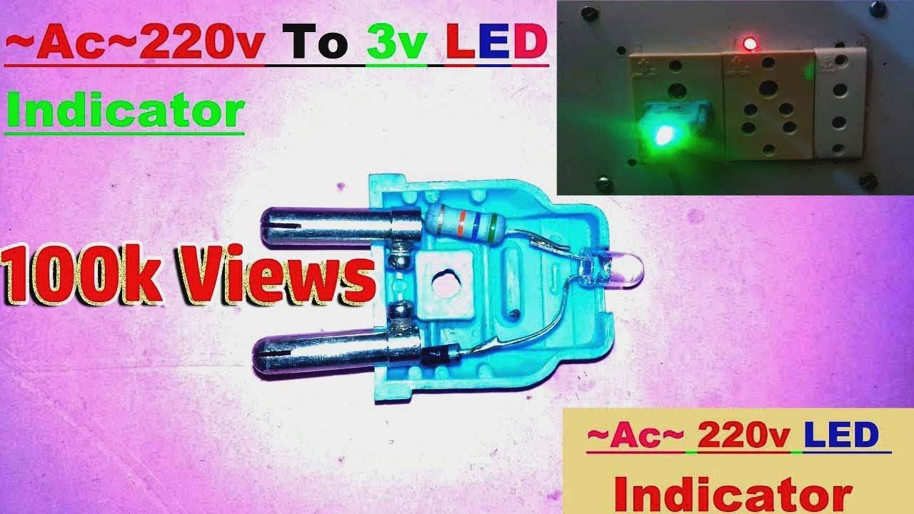 how to make ac 220v led light indicator youtube. Black Bedroom Furniture Sets. Home Design Ideas