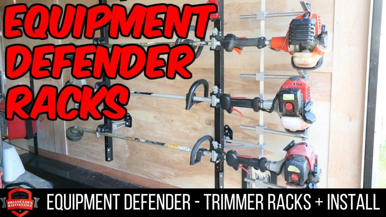 equipment defender racks enclosed trailer trimmer rack unboxing in depth install