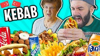 🥙🍟 GRANDMOTHER EATS KEBAB FOR THE FIRST TIME