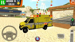 Coast Guard Beach Rescue Team Android Gameplay #3 - Crazy Ambulance Truck Driving