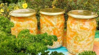 Салат из капусты на зиму рецепт Семья Булатовых