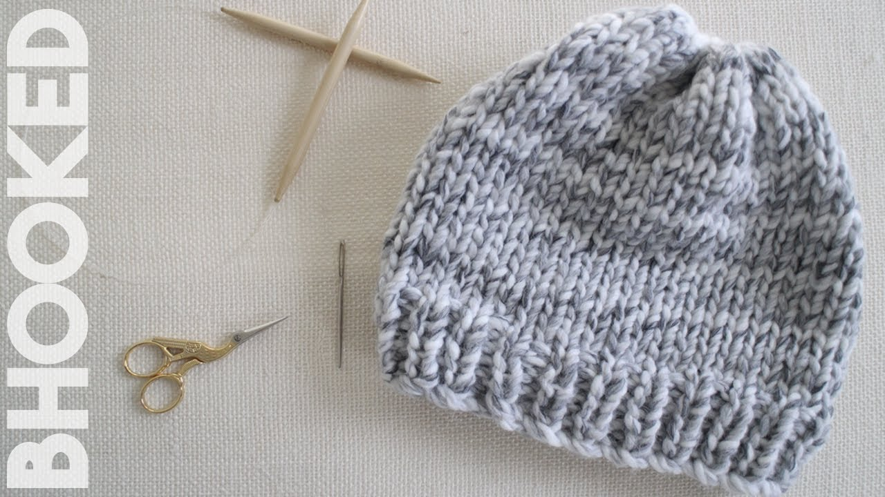 ff8b7286b23 How to Knit a Hat for Complete Beginners - YouTube
