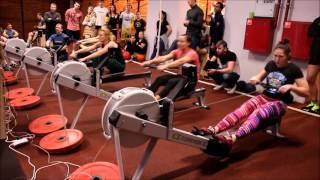 Финальные заезды соревнований по гребле-индор в Rigert Academy.