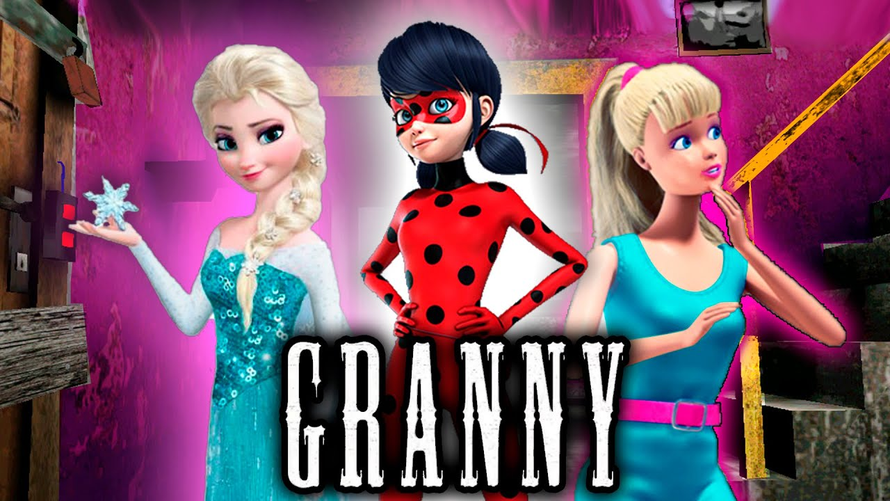 Granny Frozen vs Ladybag vs Barbie Funny moments in granny's house mix