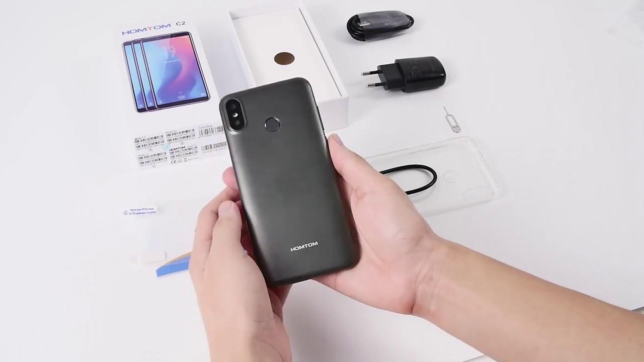 Обзор смартфона HomTom C2, официальная распаковка