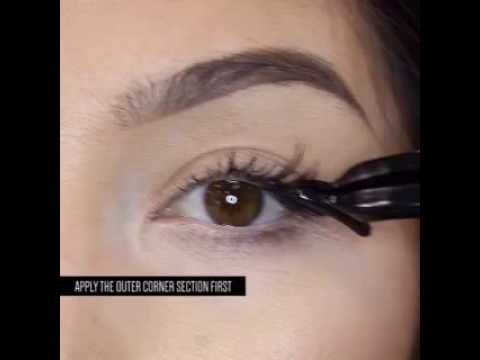 9d5bd14551f Apply Ardell Lashes Using Chocolate False Lashes - YouTube