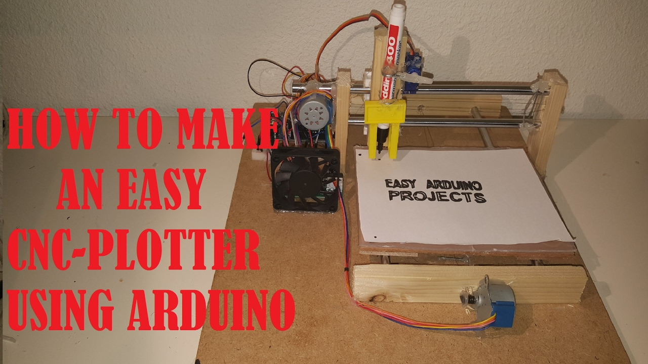 maxresdefault how to make an easy arduino cnc plotter part 1 youtube