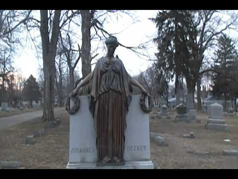 The Statue Of The Crying Mary From Oak Hill Cemetery In