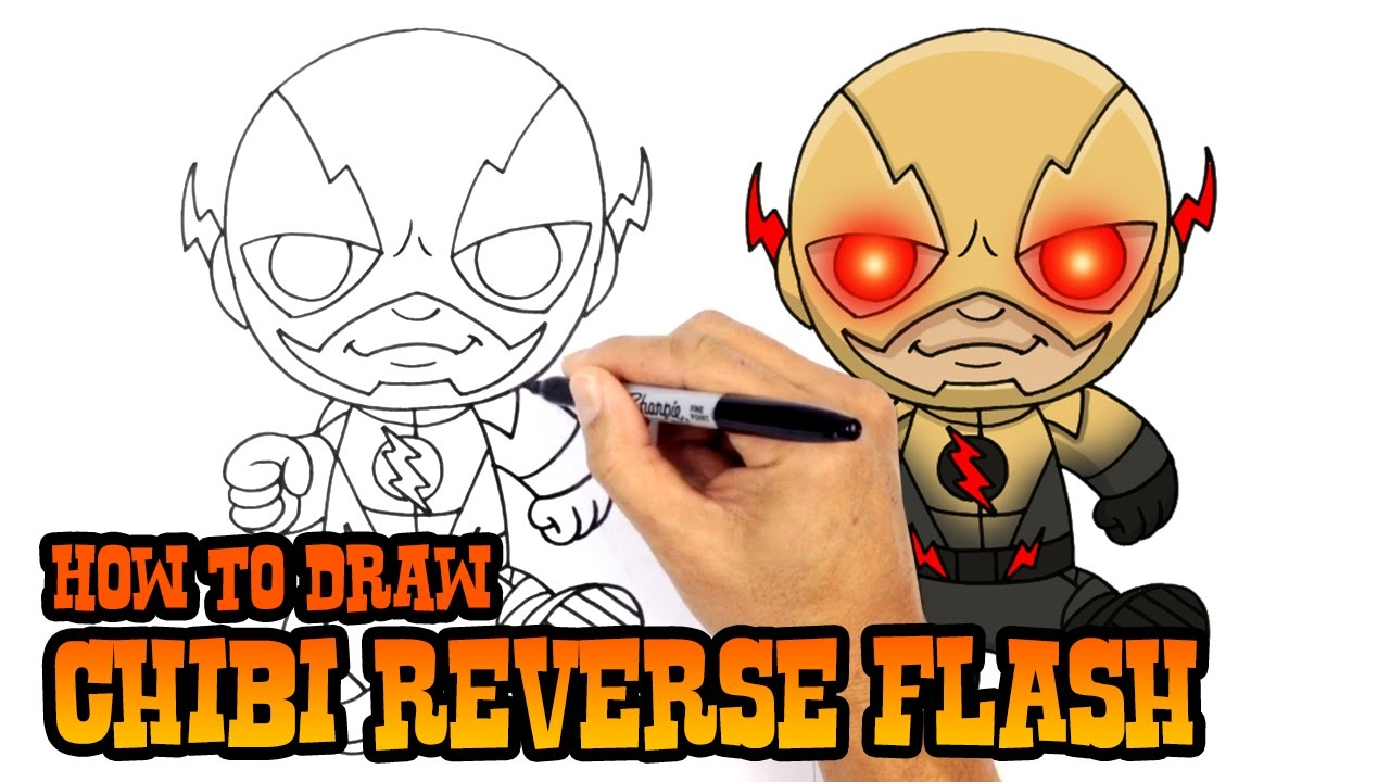 How To Draw Reverse Flash Dc Comics Youtube