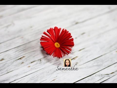 How to make a Paper flower (Origami) วิธีพับดอกไม้กระดาษแบบง่ายๆเด็กๆก็ทำได้