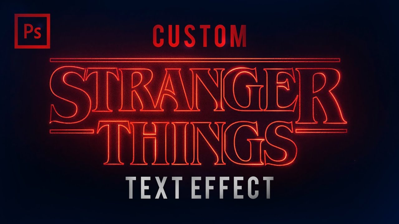Photoshop tutorials stranger things text effect youtube photoshop tutorials stranger things text effect baditri Image collections