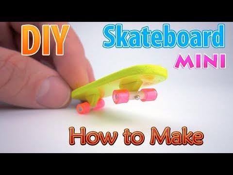 DIY Miniature Skateboard | DollHouse | No Polymer Clay!