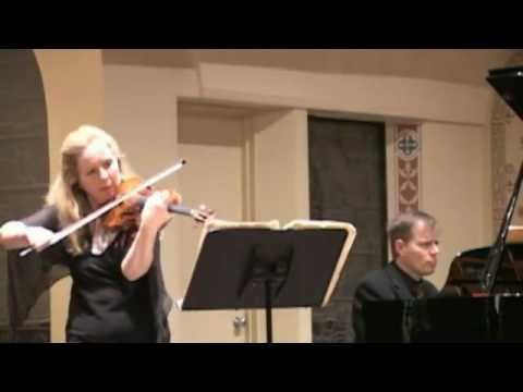 Stephanie Chase plays Ravel's Sonata - Allegretto