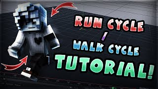 HOW TO MAKE A MINECRAFT RUN / WALK CYCLE [ TUTORIAL ]