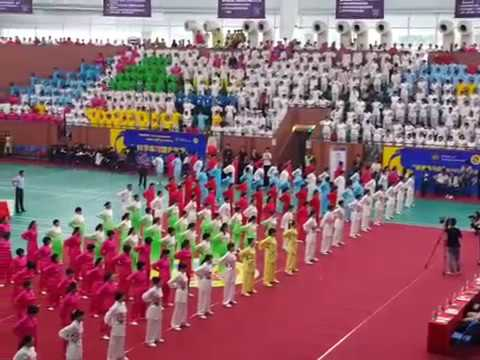 Foshan Health Qigong opening performance 2017 with Baduanjin - come to Macau will see same