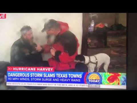 Hurricane Harvey Interview with homeless man. Tells reporter Red Cross is killing people in shelters