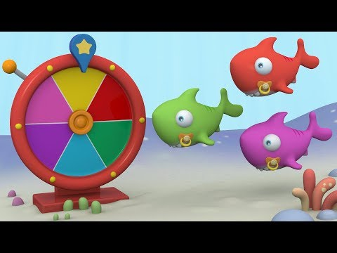 Learn Colors With THE PIJAMA FRIENDS And Baby Shark's Magic Wheel | Educational 3D Videos