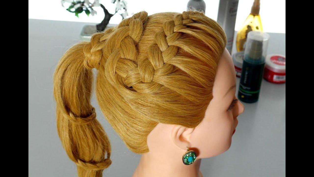 Braided Hairstyle For Long Hair. Spiral Braid Tutorial