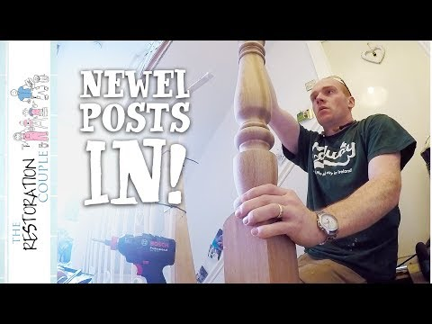 Stair Renovation - Newel Posts & Bases