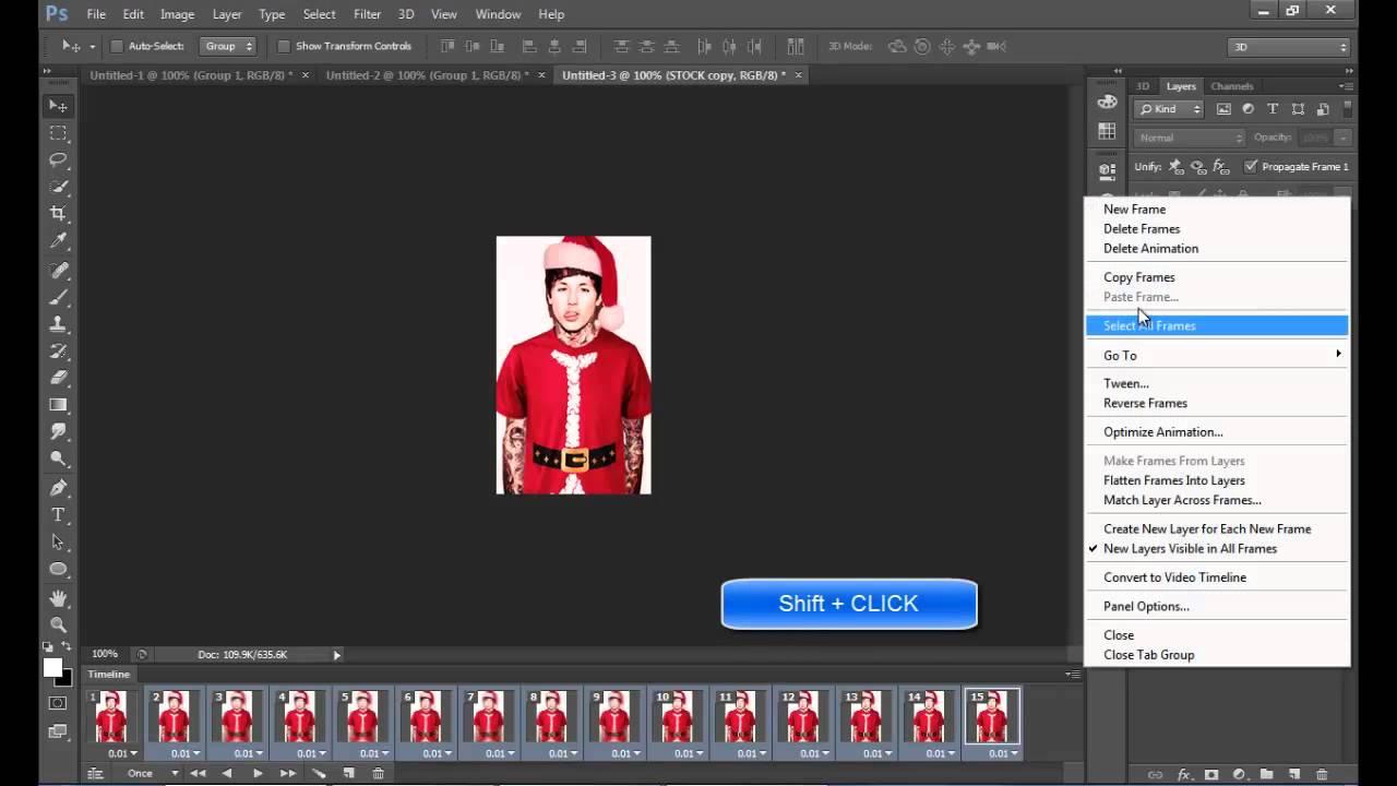 Tutorial photoshop avatar effect gif 3 youtube baditri Images